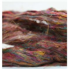 Sari Silk Pulled for easy blending recycled Fiber from India/per ounce Paradise Fibers