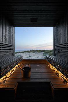 Design Hotel, House Design, Modern Saunas, Sauna House, Sauna Design, Outdoor Sauna, Rain Garden, Steam Room, Natural Building