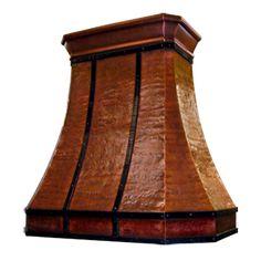 custom hammered copper range hood Texas Lightsmith Model#20, D
