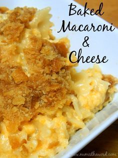 This homemade Baked Macaroni & Cheese is delicious and you probably have all the ingredients already in your pantry!  Forget the powdered stuff, munch on the real thing!