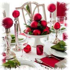 Shannon's Shanonigins: Christmas Tablescapes & Tablesettings