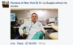 Humans Of New York Post About Surgeon Goes Viral