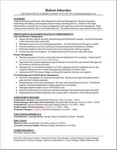 sample resume personal statement