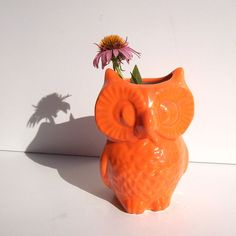 $29.99 In my search to find a vintage mixing bowl I found a wise orange owl, isn't he dreamy?