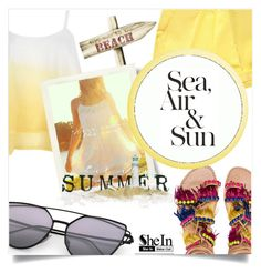 """""""Sea, hair and sun"""" by elisapar ❤ liked on Polyvore featuring Elina Linardaki, WithChic, CO and Nautica"""