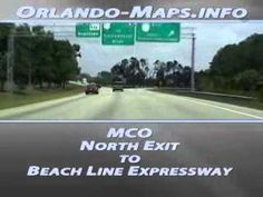 Orlando International Airport (MCO) to The Beachline Expressway via. the North Exit for Interstate 4 and International Drive accommodations. Orlando Airport, International Drive, Thing 1, Youtube, Youtubers, Youtube Movies