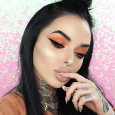 Orange ✨ @morphebrushes 35O (code bellejorden) @nyxcosmetics_uk Liquid Liner