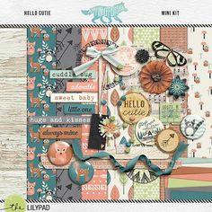 Quality DigiScrap Freebies: Hello Cutie mini kit freebie from Amy Wolff Designs