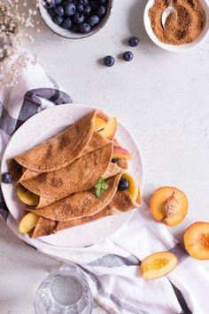 Die besten gesunden Crepes - vegan, rein pflanzlich, ohne raffinierten Zucker, glutenfrei - de.heavenlynnhealthy.com