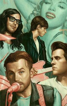 Illustration by Rolling Stone Magazine Kings Of Leon