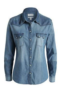 cowboy style denim blouse