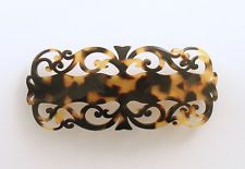 Barrette Hair Clip Baroque Filigree French Clip Tortoise France Luxe Color Tokyo