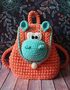 Most current Free Crochet Bag children Tips Kinder Tasche häkeln Free Crochet Bag, Crochet Purses, Crochet Toys, Crochet Baby, Knitting For Kids, Crochet For Kids, Crochet Children, Free Knitting, Crochet Backpack