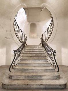 """setdeco: """"PALAZZO ALBERTINI DI CIMITILE, Grand Staircase, Napoli, Italy, 1753 """""""