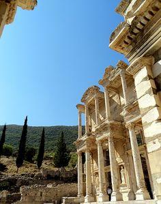 Ephesus, Turkey via A Whole Lotta Love - Places Around The World, Oh The Places You'll Go, Places To Travel, Places To Visit, Around The Worlds, Leeds England, Ancient Greek City, Leeds Castle, Ephesus