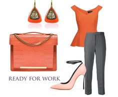 The beauty of office outfits is highlighted by refined colorful accessories such as the Lauren leather bag. Its modern design and elegant bright orange shade  complement your graceful allure by adding a bit of color to your impeccable look.