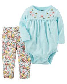 Baby Girl 2-Piece Bodysuit Pant Set   Carters.com