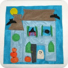 homemade by jill: halloween with open/close windows and doors