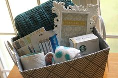 Gift basket idea for teens or young adults.