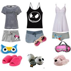 pijama by sarybets on Polyvore featuring polyvore fashion style Elle Macpherson Intimates Disney Old Navy Quiksilver Presence Fuzzy Friends Tiffany & Co.