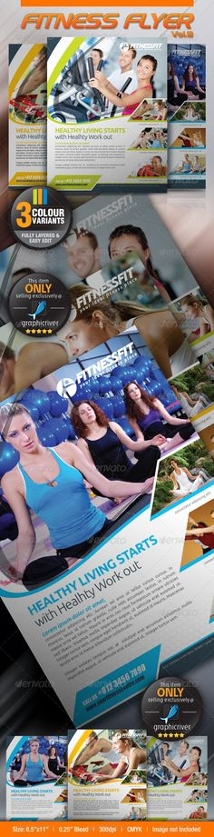 """Fitness Flyer Vol.8 #GraphicRiver This clean and simple template perfectly used for fitness related businesses, yoga businesses and sport retail shop as well. Fonts : Ubuntu, Sansation Colour : CMYK Files : .psd Size : 8.5"""" x 11"""" / 300dpi bleeding : 0.125"""" Fully layered Smart object layer to edit images images used are not included. help.txt included for fonts and images used details Kindly contact me if you need any help and I am happy to offer support. Would be highly appreciate if you…"""