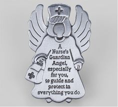 """Guardian Angel"" visor clip. #nurse #gifts"