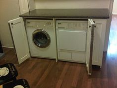 hiding washer and dryer