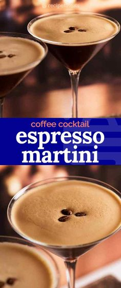 Espresso Martini - dangerously drinkable with a good slog of liquor, this coffee cocktail is made with espresso coffee, vodka and Kahlua! Expresso Martini Recipe, Coffee Martini Recipe, Sugar Cookie Martini Recipe, Expresso Recipes, Vodka Martini, Martini Bar, Martinis, Vodka Recipes, Alcohol Drink Recipes