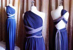 Reversible Infinity Dress Custom Colors & Custom by MJVOCouture, via Etsy.