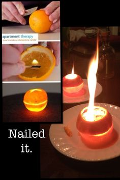 this makes your house smell really good and all u have 2 do is cut an orange in half and put a LITTLE dash of oil in it and light. It will take a little bit 2 get started but it works!
