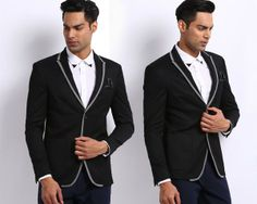 Designer Men's Textured Weave Blazer with Grey Accents (Black) for only Rs 2999. Imagine yourself strutting about this summer in this sexy blazer with confidence and verve: https://www.bhaap.com/buy-designer-men-s-textured-weave-blazer-with-grey-accents-black.html/?utm_source=pinterest
