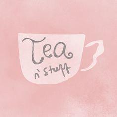 #Tea n' stuff.  #design #illustration #watercolor #handlettering
