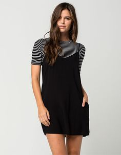 MIMI CHICA Two Piece Tee And Slip Dress