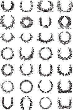 Ornate Wreath Vector Set icons painting drawing resource tool how to tutorial instructions | Create your own roleplaying game material w/ RPG Bard: www.rpgbard.com | Writing inspiration for Dungeons and Dragons DND D&D Pathfinder PFRPG Warhammer 40k Star Wars Shadowrun Call of Cthulhu Lord of the Rings LoTR + d20 fantasy science fiction scifi horror design | Not our art: click artwork for source