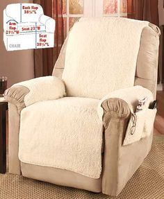 CT Store Protect Your Furniture with a Comfortable and Reversible Quilt Chair Cover with Double Strap to Stay in Place Recliner, Brown//Tan
