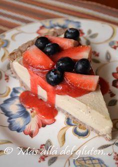 Más allá del gluten...: Torta de Queso sin Queso y sin Hornear (Receta SCD, GFCFSF, Vegana, RAW)