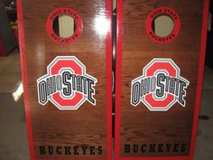 Ohio State Cornhole Boards and bags regulation size by lawnman2880