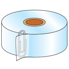 Before cutting the tape, put a large paper clip behind where you plan to cut. The next time you use the tape, the paper clip marks where to . Organization Hacks, Classroom Organization, Classroom Management, Teacher Tools, Teacher Resources, Things To Know, Good Things, Helpful Hints, Handy Tips