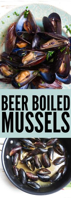 These Beer Boiled Mussels are so flavorful and fun! Infuse the shellfish with your favorite beer for a light and summery recipe! thetoastedpinenut.com