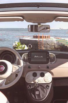Fiat 500 Cabrio, Fiat 500c, Pretty Cars, Cute Cars, My Dream Car, Dream Cars, Car Goals, First Car, Best Vibrators