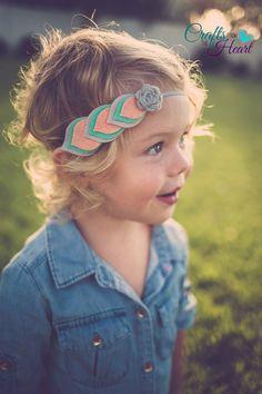 Felt Feather Headband Layered Felt Flower by PACraftsfromtheHeart #feltflowers