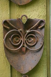 recycled garden art | recycled materials - ART / Kathi's Garden Art Rust-n-Stuff: A ...