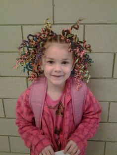 Pipe cleaner crazy hair day!!!