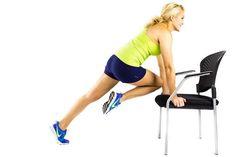 plank twist on chair