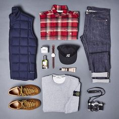 Today's essencial was choose by Chris from End Hunting Co. Via @end_clothing #outfit #outfitgrid #menswear