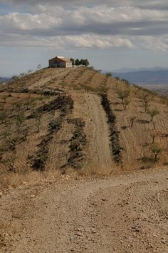 House on a hill near Albox, Almeria, Spain
