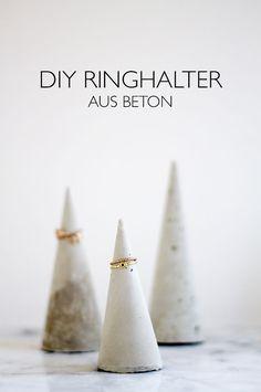 DIY Ringhalter aus Beton -  Beton Kegel - lindaloves.de