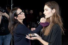 Bobbi working her magic at the Rachel Roy Fall '13 Presentation. Fashion Week with Bobbi Brown Cosmetics #Bobbi4RR
