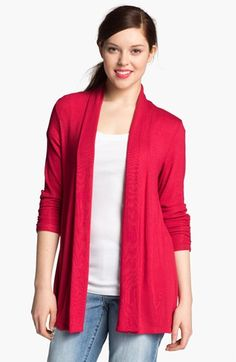 MOD.lusive Ruched Sleeve Long Cardigan (Nordstrom Exclusive) available at #Nordstrom