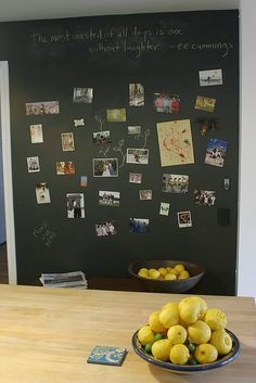 chalkboard or magnetic wall by elma